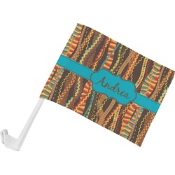 Tribal Ribbons Car Flag (Personalized)