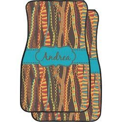 Tribal Ribbons Car Floor Mats (Front Seat) (Personalized)