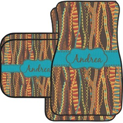 Tribal Ribbons Car Floor Mats (Personalized)