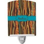 Tribal Ribbons Ceramic Night Light (Personalized)