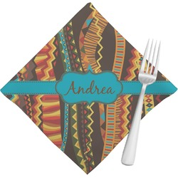 Tribal Ribbons Napkins (Set of 4) (Personalized)