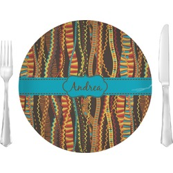 "Tribal Ribbons 10"" Glass Lunch / Dinner Plates - Single or Set (Personalized)"