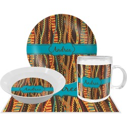 Tribal Ribbons Dinner Set - 4 Pc (Personalized)