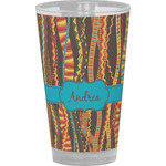 Tribal Ribbons Drinking / Pint Glass (Personalized)