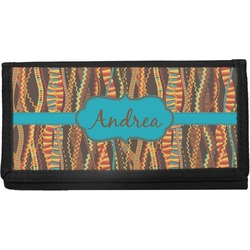 Tribal Ribbons Canvas Checkbook Cover (Personalized)
