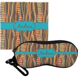 Tribal Ribbons Eyeglass Case & Cloth (Personalized)