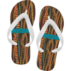 Tribal Ribbons Flip Flops (Personalized)