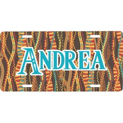 Tribal Ribbons Front License Plate (Personalized)