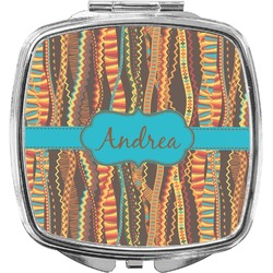 Tribal Ribbons Compact Makeup Mirror (Personalized)