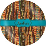 Tribal Ribbons Melamine Plate (Personalized)