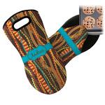 Tribal Ribbons Neoprene Oven Mitt (Personalized)