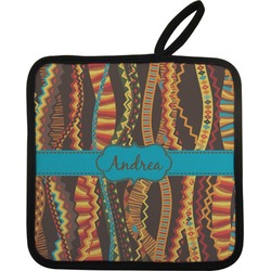 Tribal Ribbons Pot Holder (Personalized)