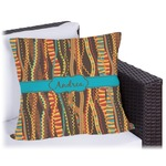 Tribal Ribbons Outdoor Pillow (Personalized)