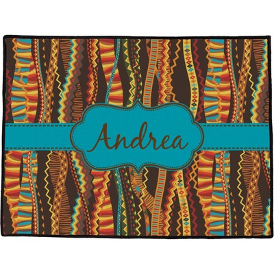 "Tribal Ribbons Door Mat - 24""x18"" (Personalized)"
