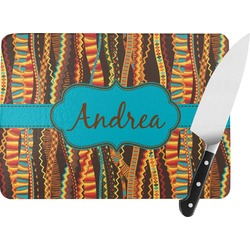 Tribal Ribbons Rectangular Glass Cutting Board (Personalized)