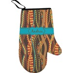 Tribal Ribbons Right Oven Mitt (Personalized)