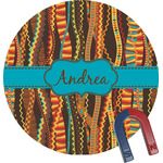 Tribal Ribbons Round Magnet (Personalized)