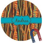 Tribal Ribbons Round Fridge Magnet (Personalized)