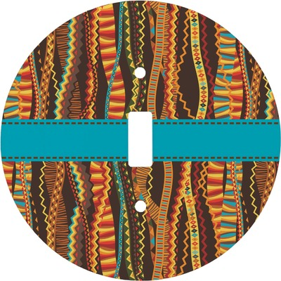 Tribal Ribbons Round Light Switch Cover (Personalized)