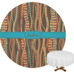 Tribal Ribbons Round Tablecloth (Personalized)