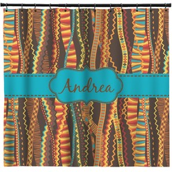 Tribal Ribbons Shower Curtain (Personalized)