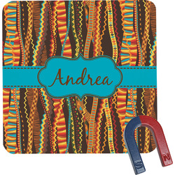 Tribal Ribbons Square Fridge Magnet (Personalized)