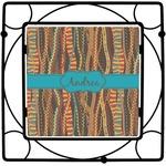 Tribal Ribbons Square Trivet (Personalized)