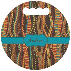 Tribal Ribbons Stadium Cushion (Round) (Personalized)