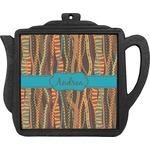 Tribal Ribbons Teapot Trivet (Personalized)