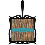 Tribal Ribbons Trivet with Handle (Personalized)