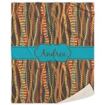 Tribal Ribbons Sherpa Throw Blanket (Personalized)