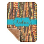 "Tribal Ribbons Sherpa Baby Blanket 30"" x 40"" (Personalized)"