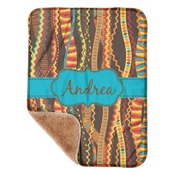 """Tribal Ribbons Sherpa Baby Blanket 30"""" x 40"""" (Personalized)"""