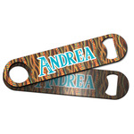 Tribal Ribbons Bar Bottle Opener w/ Name or Text