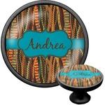 Tribal Ribbons Cabinet Knob (Black) (Personalized)