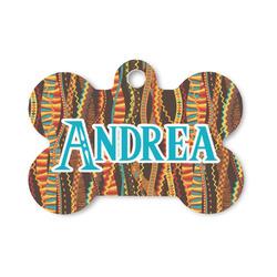 Tribal Ribbons Bone Shaped Dog ID Tag (Personalized)