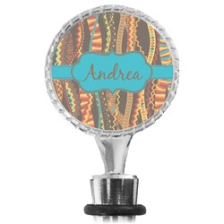 Tribal Ribbons Wine Bottle Stopper (Personalized)