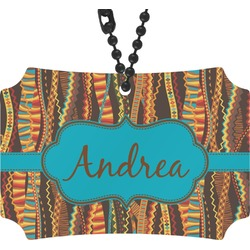 Tribal Ribbons Rear View Mirror Ornament (Personalized)