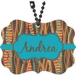 Tribal Ribbons Rear View Mirror Decor (Personalized)