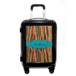 Tribal Ribbons Carry On Hard Shell Suitcase (Personalized)