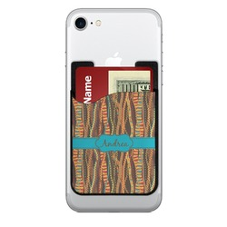 Tribal Ribbons 2-in-1 Cell Phone Credit Card Holder & Screen Cleaner (Personalized)