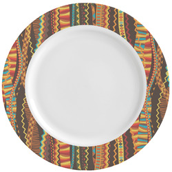 Tribal Ribbons Ceramic Dinner Plates (Set of 4) (Personalized)