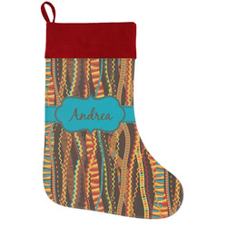 Tribal Ribbons Holiday / Christmas Stocking (Personalized)