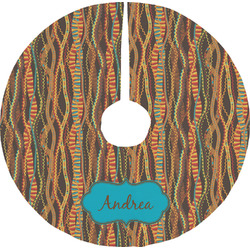 Tribal Ribbons Tree Skirt (Personalized)