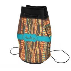 Tribal Ribbons Neoprene Drawstring Backpack (Personalized)