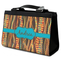 Tribal Ribbons Classic Tote Purse w/ Leather Trim (Personalized)