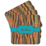Tribal Ribbons Cork Coaster - Set of 4 w/ Name or Text