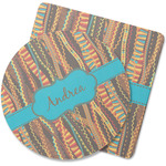 Tribal Ribbons Rubber Backed Coaster (Personalized)