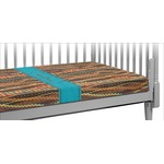 Tribal Ribbons Crib Fitted Sheet (Personalized)