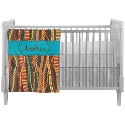 Tribal Ribbons Crib Comforter / Quilt (Personalized)